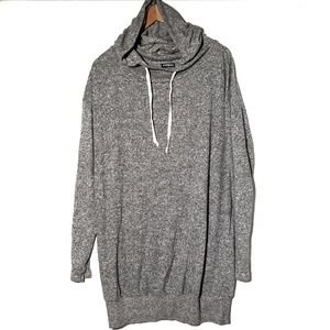 Express Hooded Tunic Grey Top